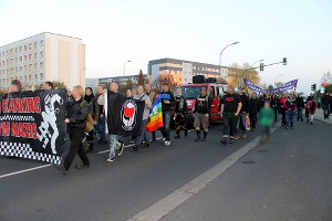 Streetparade No Dancing With Nazis 2014 in Delitzsch